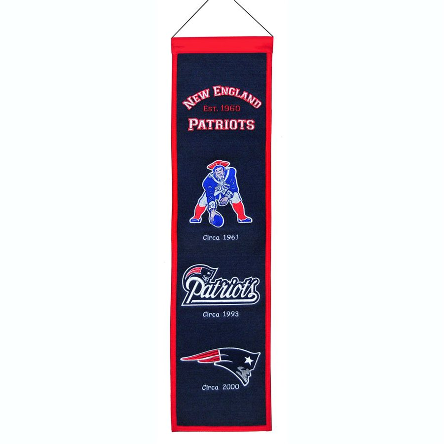 Winning Streak 2.67-ft W x 0.67-ft H Embroidered New England Patriots Banner