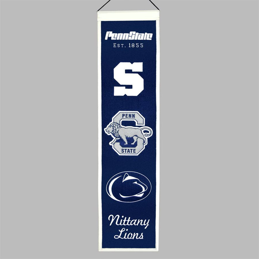 Winning Streak 2.67-ft W x 0.67-ft H Embroidered Penn State Nittany Lions Banner
