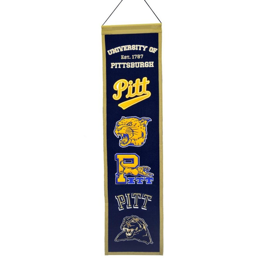 Winning Streak 2.67-ft W x 0.67-ft H Embroidered Pittsburgh Panthers Banner