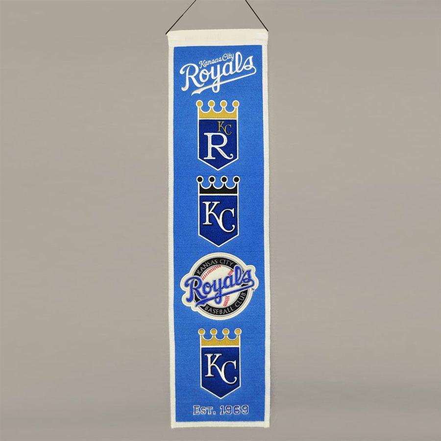 Winning Streak 2.67-ft W x 0.67-ft H Embroidered Kansas City Royals Banner