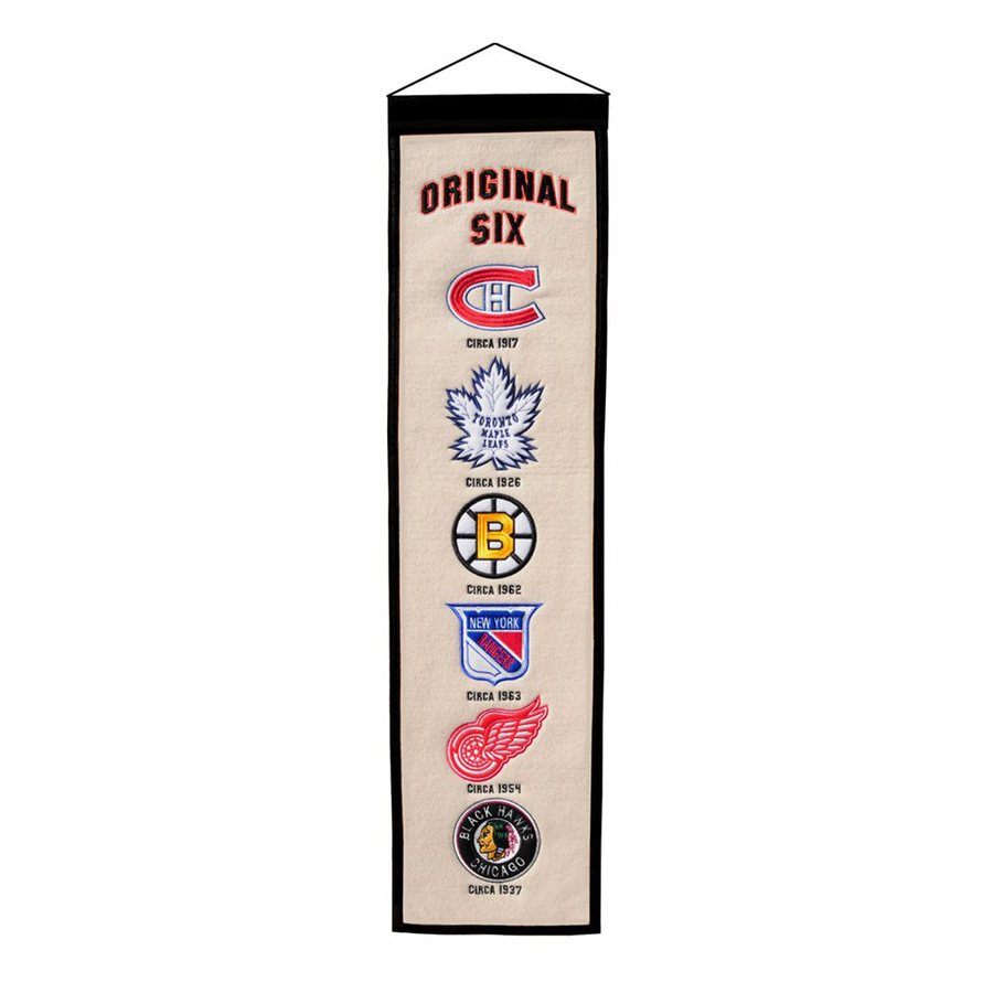 Winning Streak 2.67-ft W x 0.67-ft H Embroidered Original Six Banner