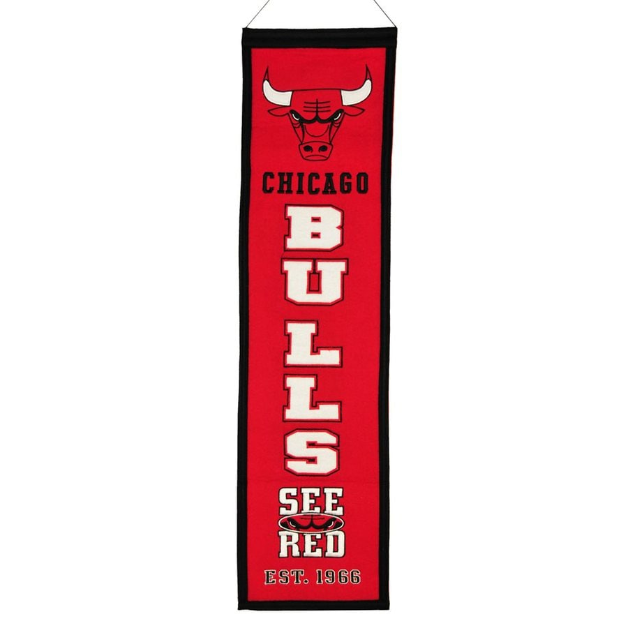 Winning Streak 2.67-ft W x 0.67-ft H Embroidered Chicago Bulls Banner