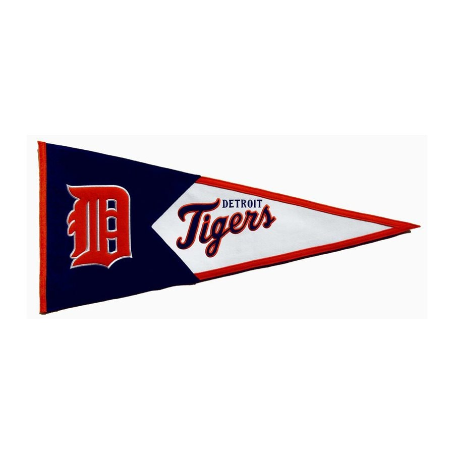 Winning Streak 3.38-ft W x 1.46-ft H Embroidered Detroit Tigers Pennant