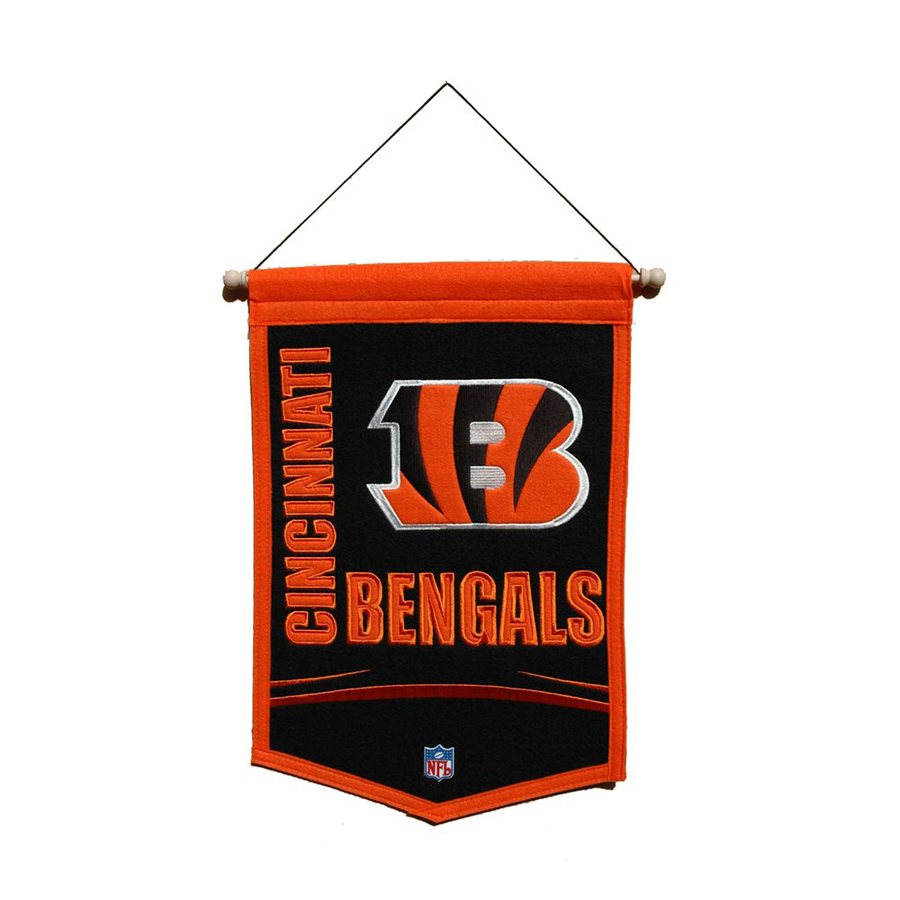 Winning Streak 1.5-ft W x 1-ft H Embroidered Cincinnati Bengals Banner