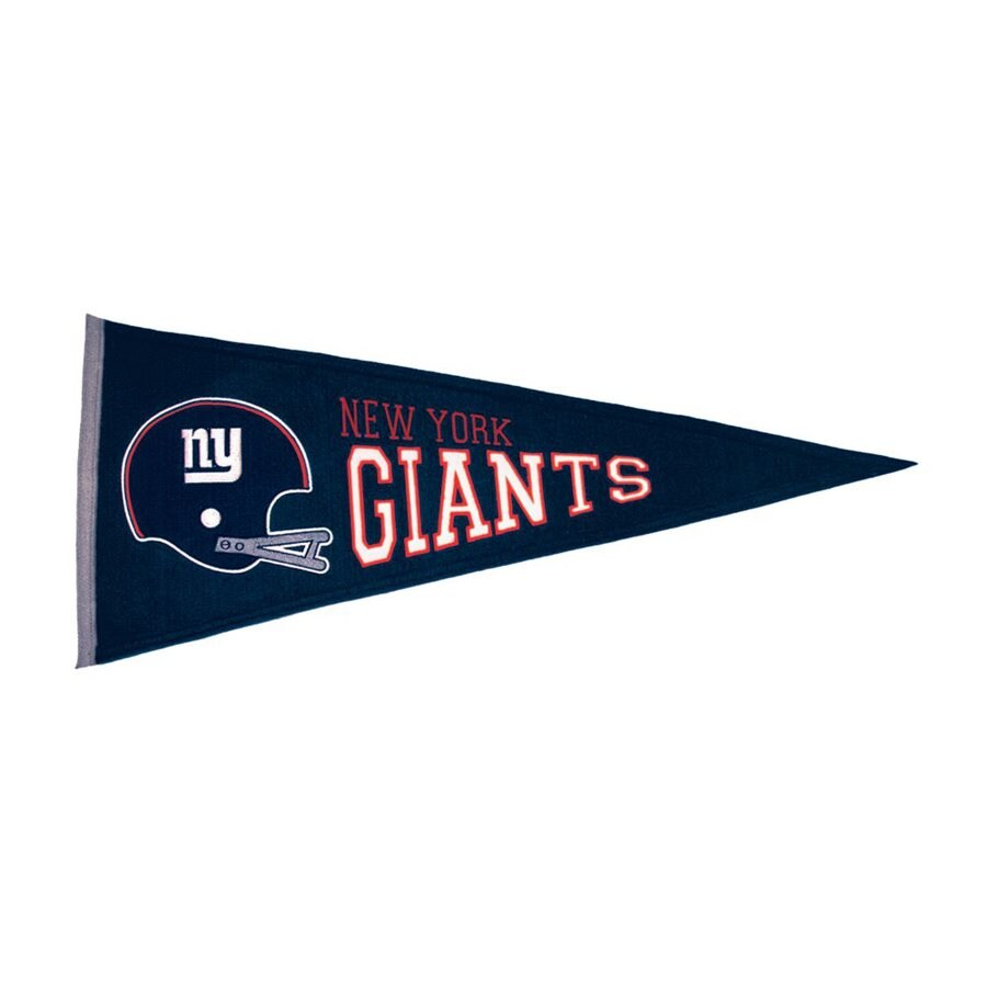 Winning Streak 2.67-ft W x 1.08-ft H Embroidered New York Giants Pennant