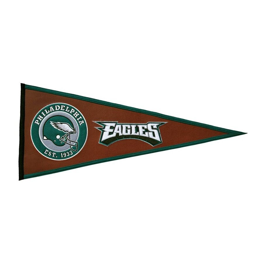 Winning Streak 2.67-ft W x 1.08-ft H Embroidered Philadelphia Eagles Pennant