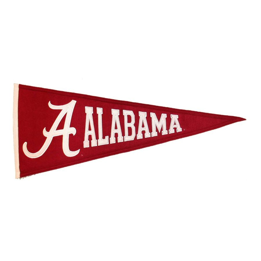 Winning Streak 2.67-ft W x 1.08-ft H Embroidered Alabama Crimson Tide Pennant