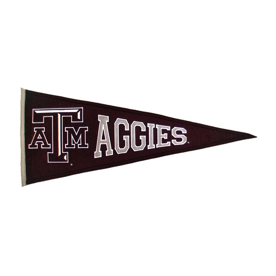 Winning Streak 2.67-ft W x 1.08-ft H Embroidered Texas A&M Aggies Pennant