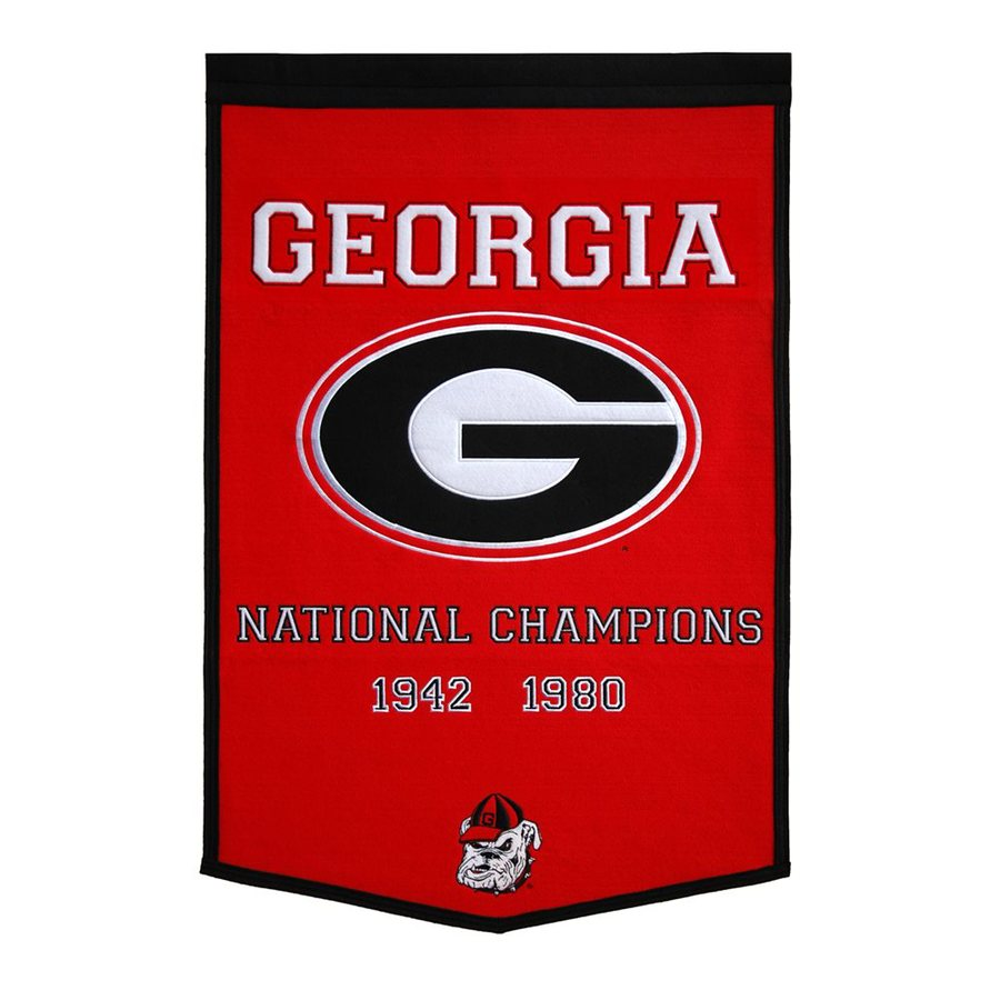 Winning Streak 3-ft W x 2-ft H Embroidered Georgia Bulldogs Banner