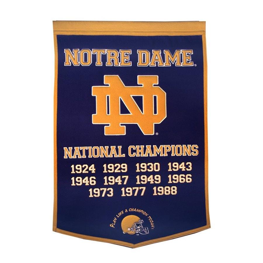 Winning Streak 3-ft W x 2-ft H Embroidered Notre Dame Fighting Irish Banner