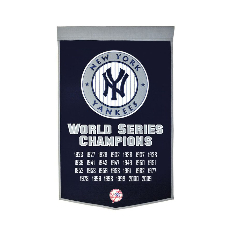 Winning Streak 2-ft W x 3-ft H Embroidered New York Yankees Banner