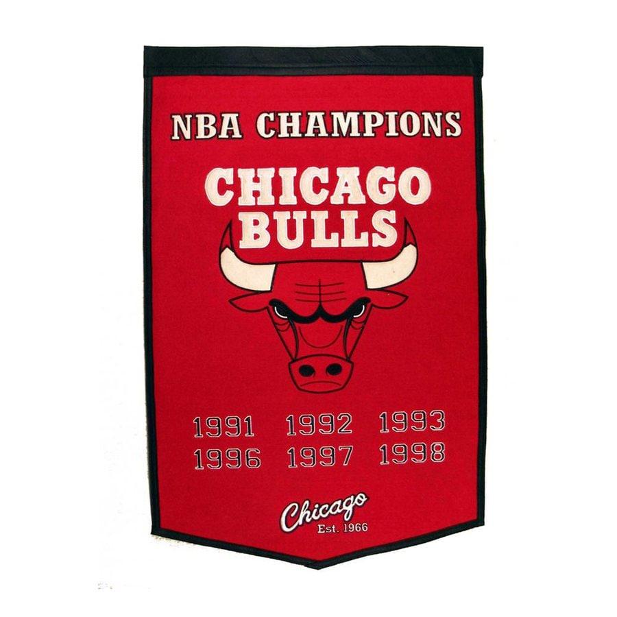 Winning Streak 2-ft W x 3-ft H Embroidered Chicago Bulls Banner
