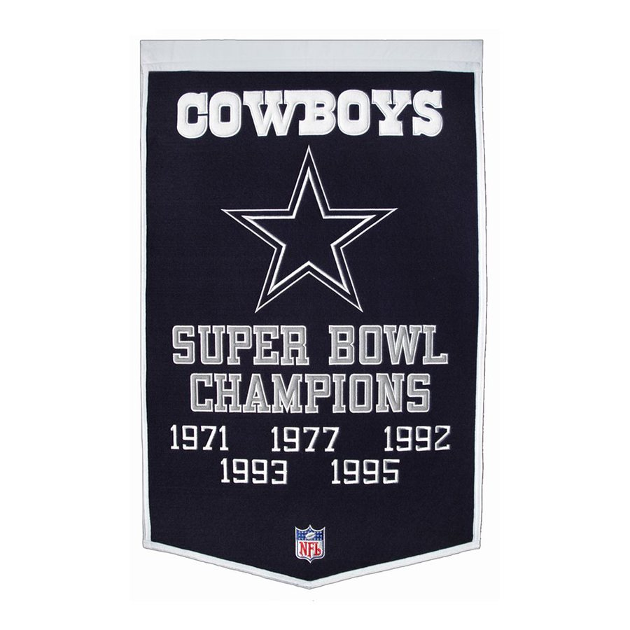 Winning Streak 2-ft W x 3-ft H Embroidered Dallas Cowboys Banner