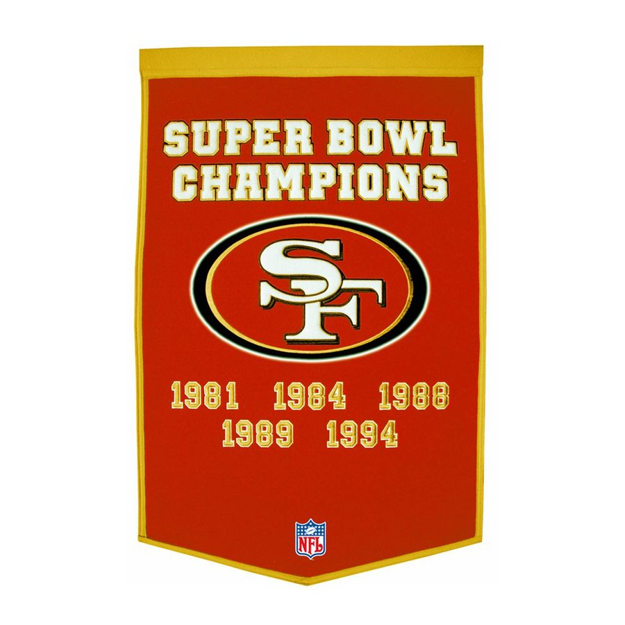 Winning Streak 2-ft W x 3-ft H Embroidered San Francisco 49Ers Banner