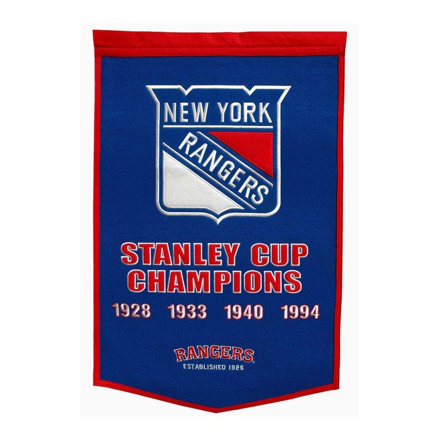 Winning Streak 3-ft W x 2-ft H Embroidered New York Rangers Banner