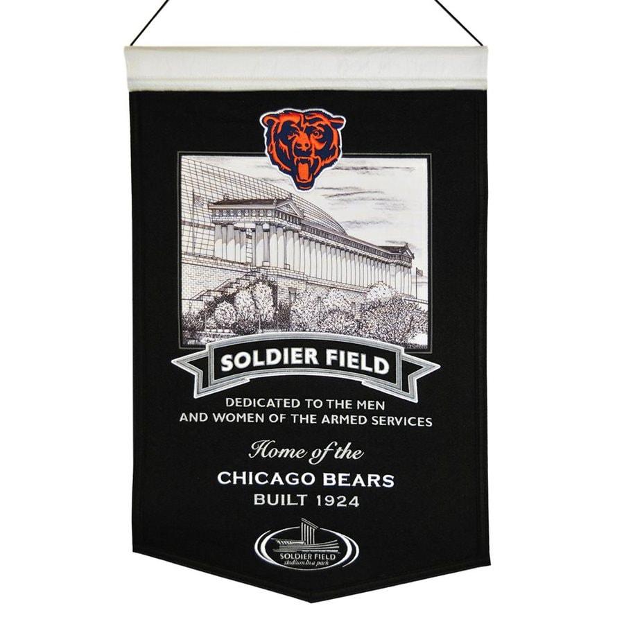 Winning Streak 1.25-ft W x 1.67-ft H Embroidered Chicago Bears Banner