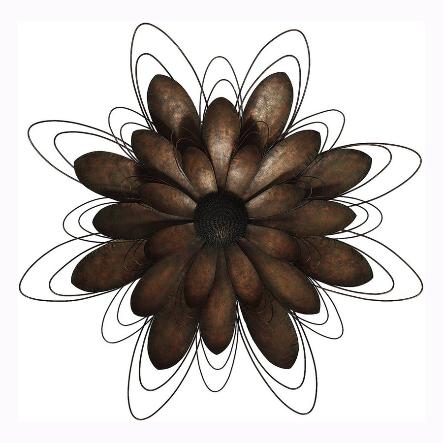 Propac Images 33-in W x 33-in H Frameless Metal Flower Sculpture Wall Art