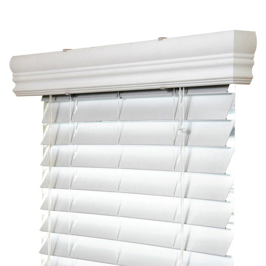 Ipg 2 In White Vinyl Mini Blinds Common 34 In Actual