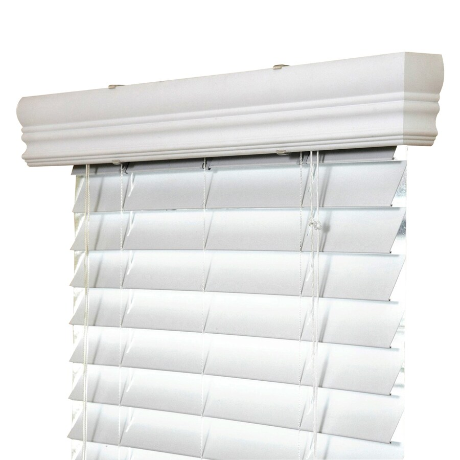 IPG 2-in White Vinyl Room Darkening Horizontal Blinds (Common 12.5-in; Actual: 12.25-in x 84-in)