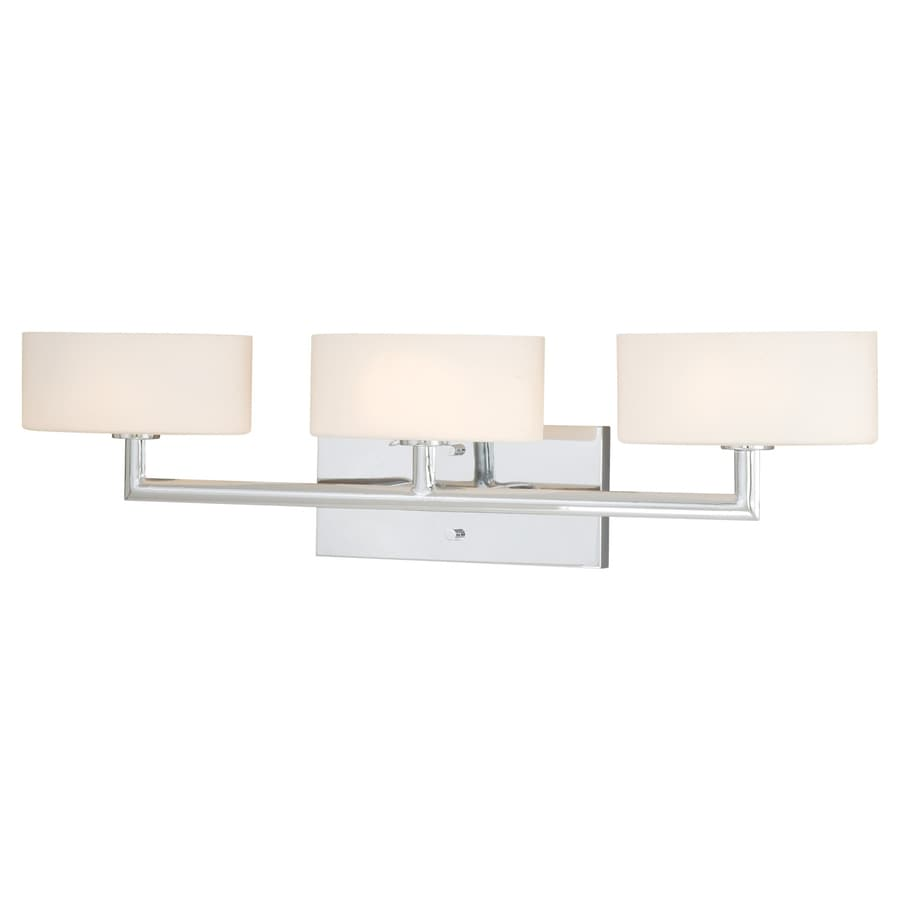 Cascadia Lighting Alerton 3-Light 7.5-in Chrome Oval Vanity Light