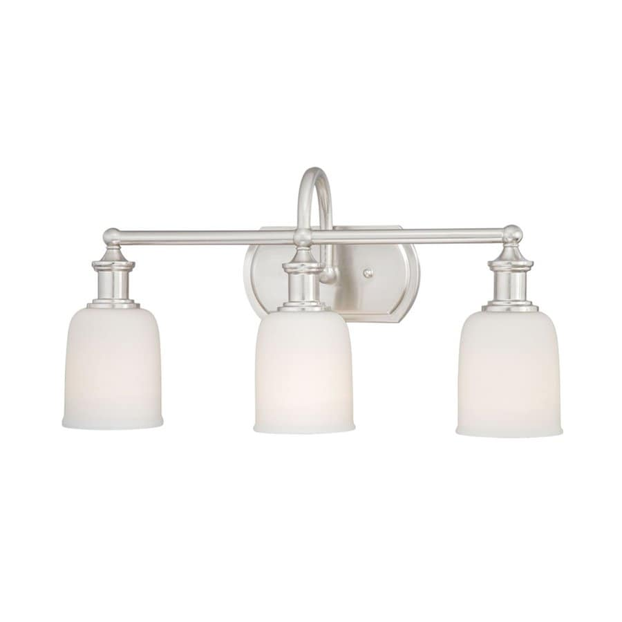 Polished Nickel Bathroom Vanity Light: Cascadia Lighting Elliot 3-Light 11.25-in Polished Nickel