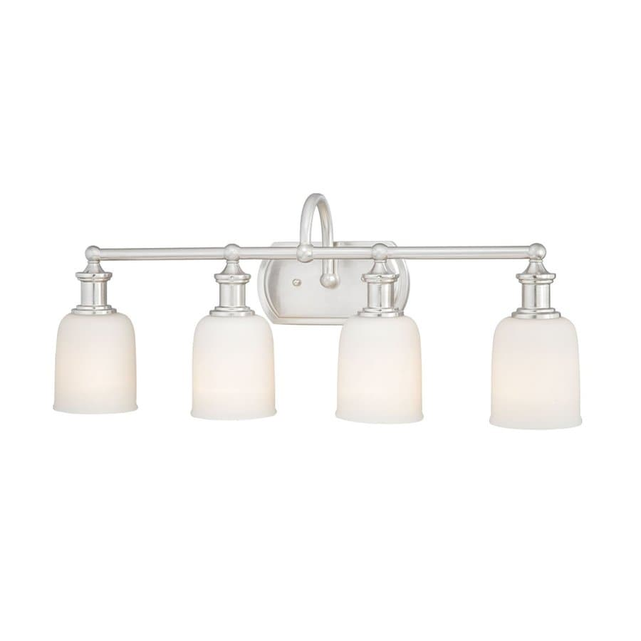 Polished Nickel Bathroom Vanity Light: Shop Cascadia Lighting 4-Light Elliot Polished Nickel