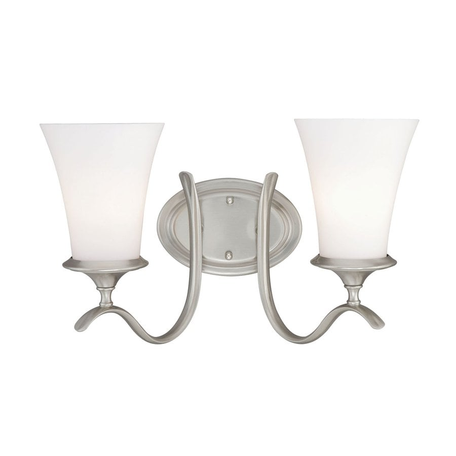 Cascadia Lighting Sonora 2-Light 10.5-in Satin nickel Bell Vanity Light