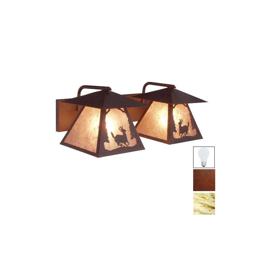 Steel Partners 2-Light Deer Prairie Rust Bathroom Vanity Light