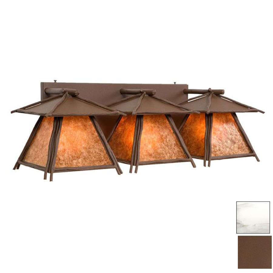 Steel Partners 3-Light Sticks Cascade Mountain Brown Bathroom Vanity Light