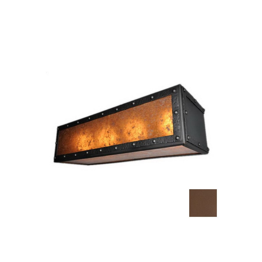 Steel Partners Rogue River Mountain Brown Bathroom Vanity Light