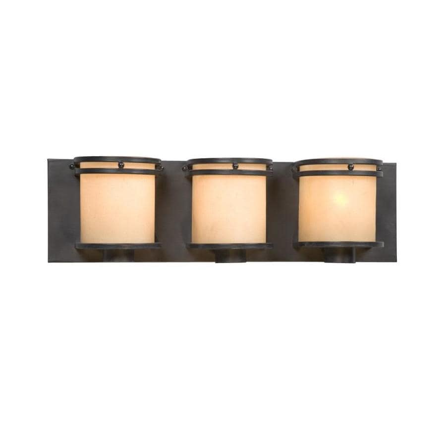Shop Galaxy Madison 3-Light 5.87-in Charcoal Black Vanity Light at Lowes.com