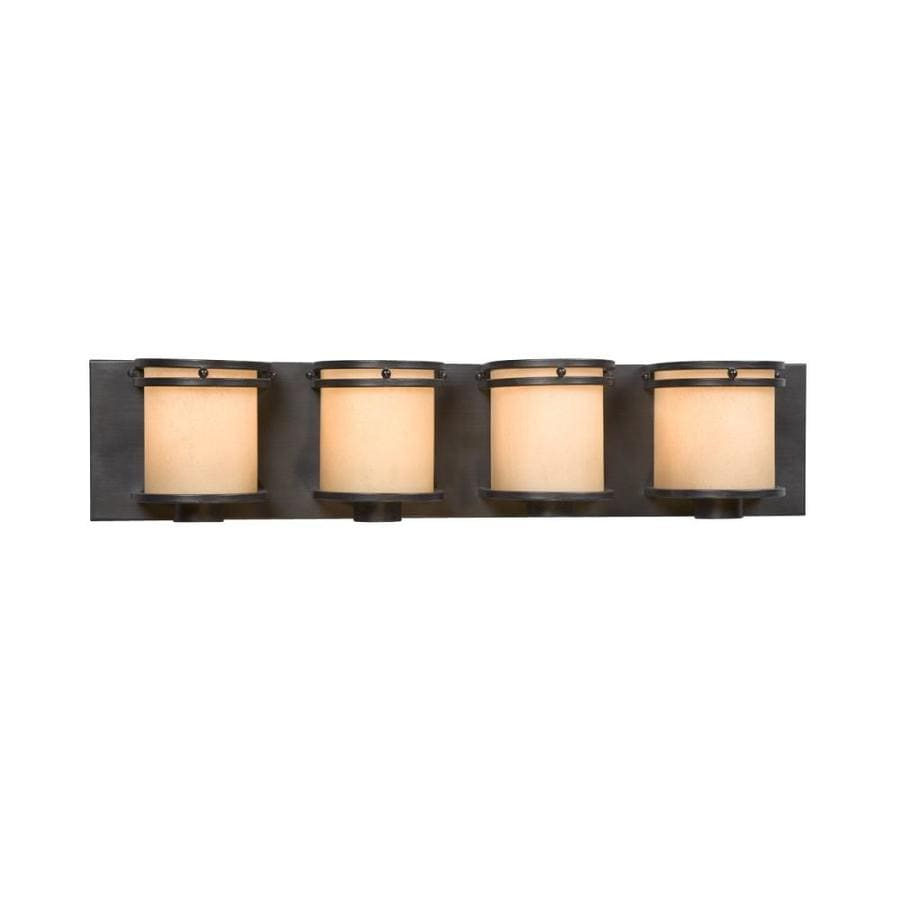 Shop Galaxy Madison 4-Light 5.87-in Charcoal Black Vanity Light at Lowes.com