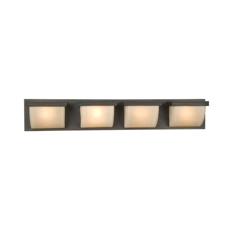Shop Galaxy Melbourne 4-Light 6-in Oil-Rubbed Bronze Rectangle Vanity Light Bar at Lowes.com