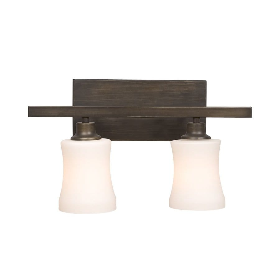 Bathroom Vanity Lights Brass: Shop Galaxy 2-Light Delta Oil-Rubbed Bronze Standard