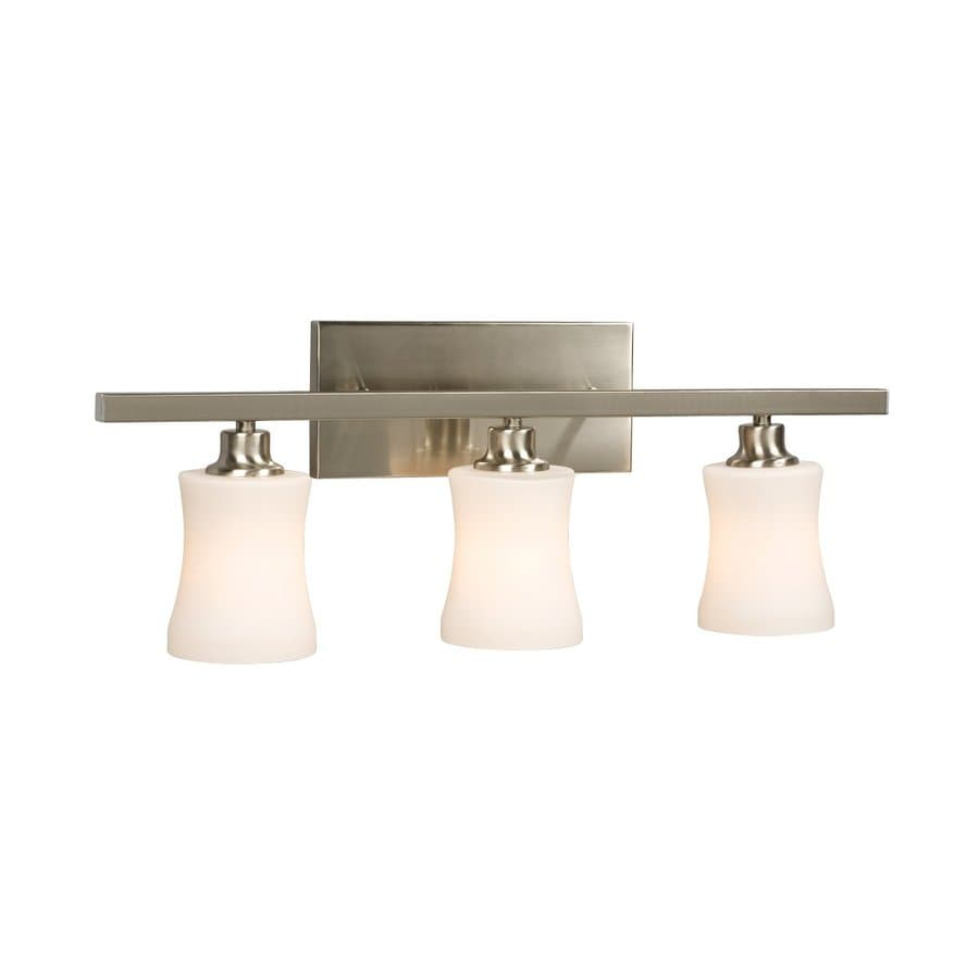 Galaxy Delta 3-Light 9.25-in Brushed Nickel Bell Vanity Light