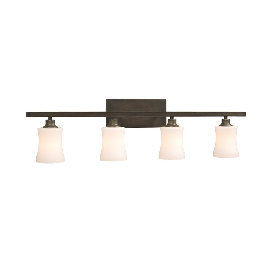 Galaxy Delta 4-Light 9.25-in Oil-Rubbed Bronze Bell Vanity Light