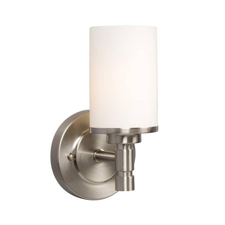 Galaxy Brighton 1-Light 9.25-in Brushed Nickel Cylinder Vanity Light
