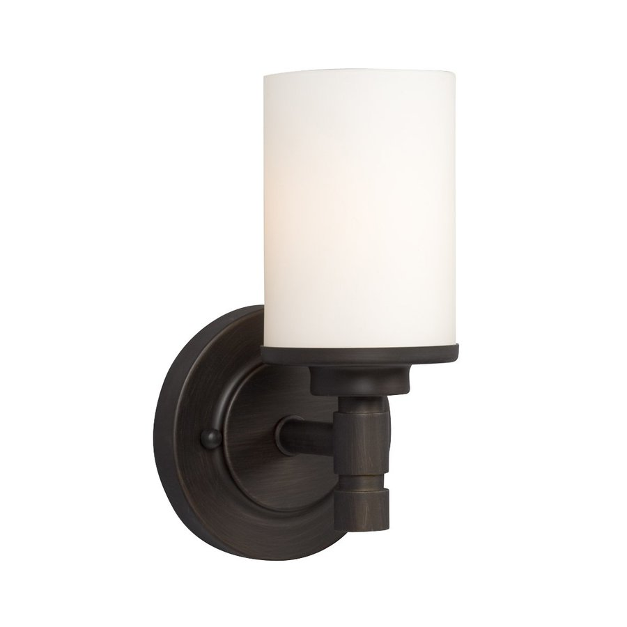 Galaxy Brighton 1-Light 9.25-in Oil-Rubbed Bronze Cylinder Vanity Light