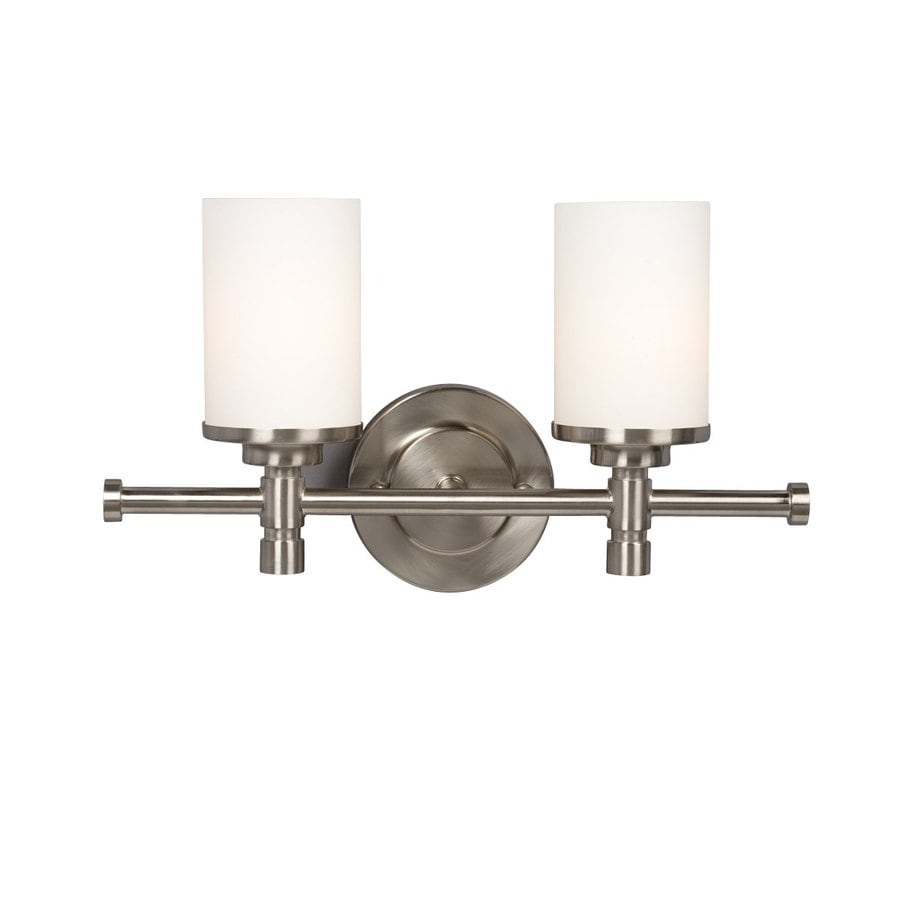 Galaxy Brighton 2-Light 9.25-in Brushed Nickel Cylinder Vanity Light
