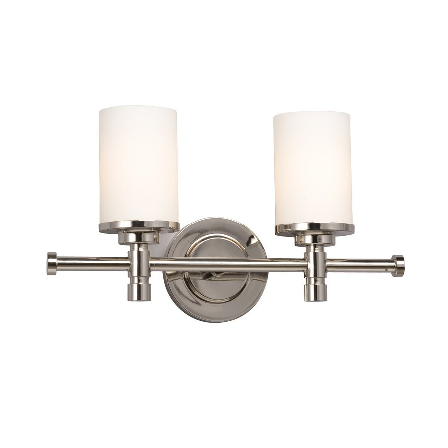 Galaxy Brighton 2-Light 9.25-in Chrome Cylinder Vanity Light