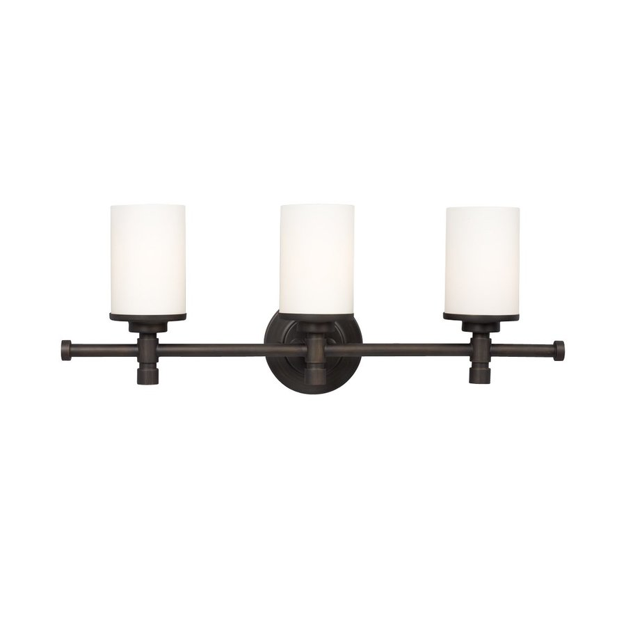 Galaxy Brighton 3-Light 9.25-in Oil-Rubbed Bronze Cylinder Vanity Light