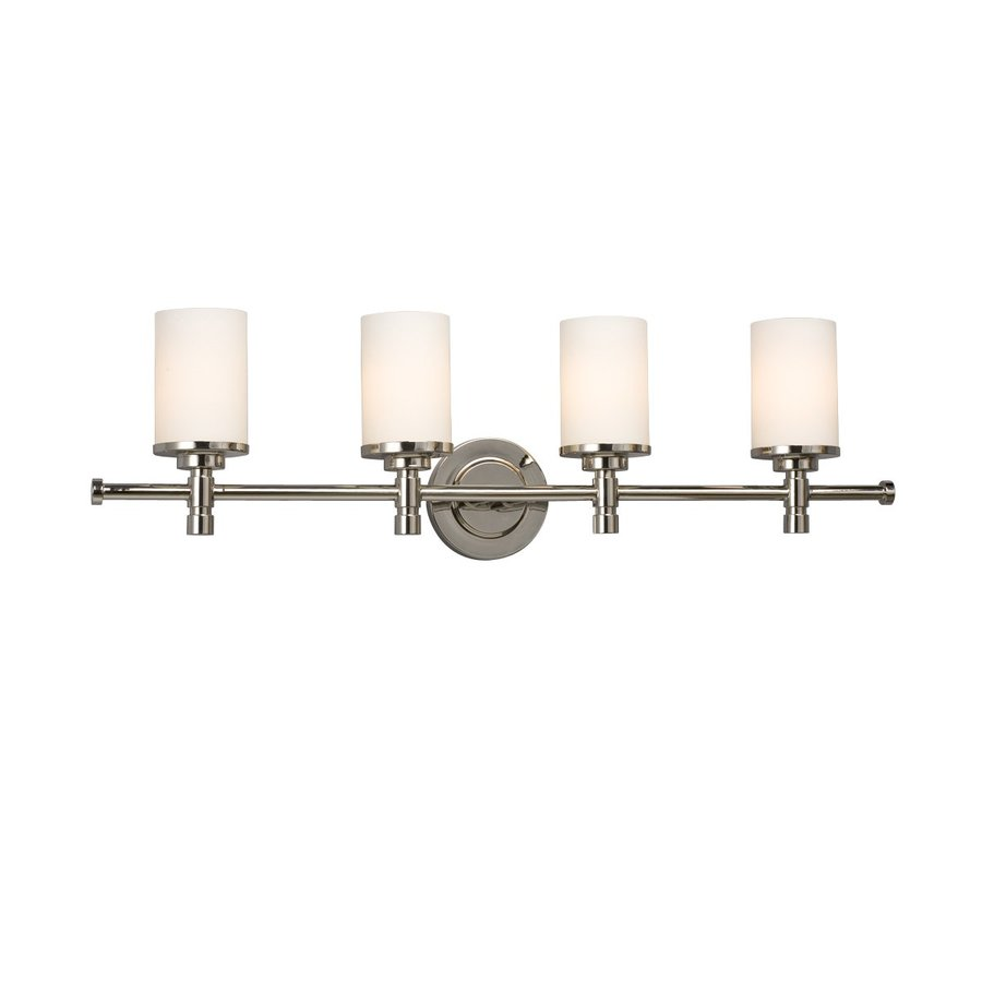 Galaxy Brighton 4-Light 9.25-in Chrome Cylinder Vanity Light