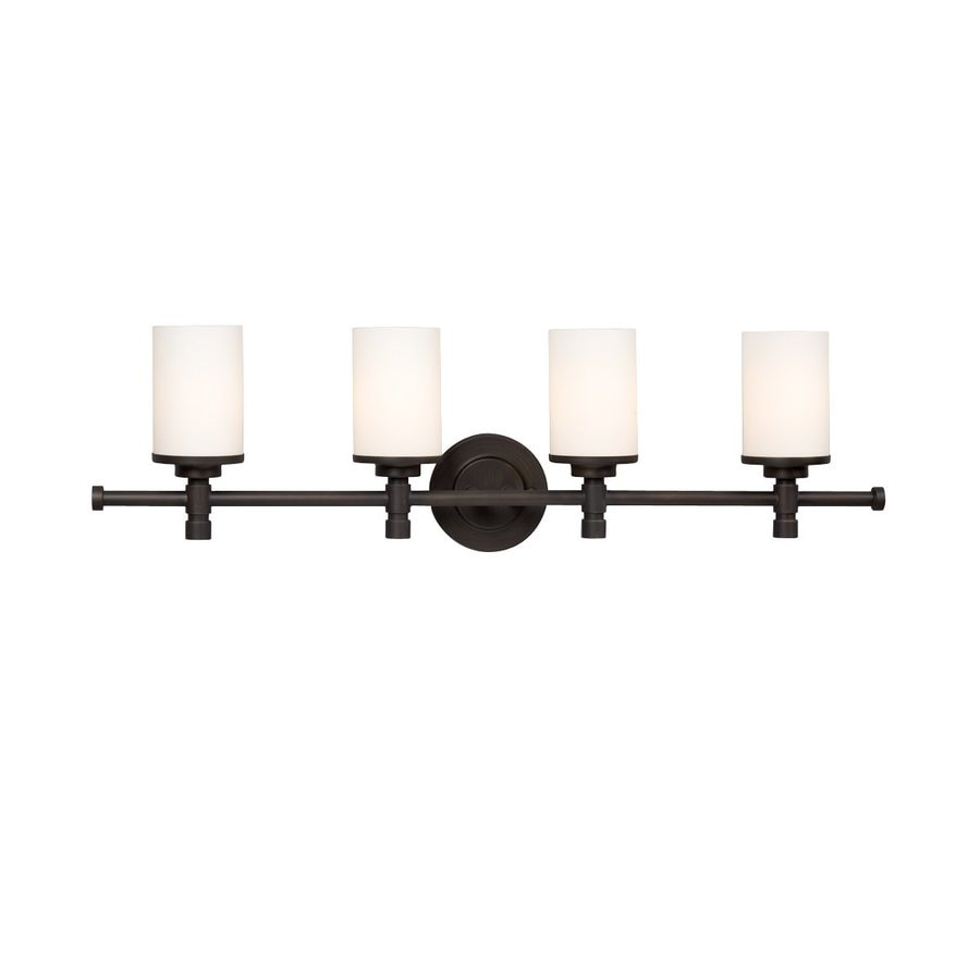 Galaxy Brighton 4-Light 9.25-in Oil-Rubbed Bronze Cylinder Vanity Light
