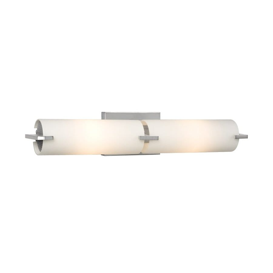 Replace Vanity Light Bar With Two Lights : Shop Galaxy Kona 2-Light 4.25-in Chrome Cylinder Vanity Light Bar at Lowes.com