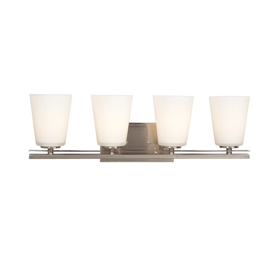Galaxy Radcliff 4-Light 8-in Brushed Nickel Bell Vanity Light