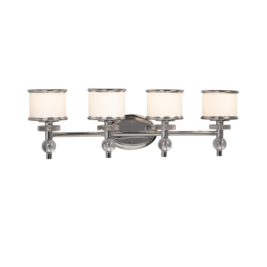 Galaxy Hilton 4-Light 9.18-in Chrome Drum Vanity Light
