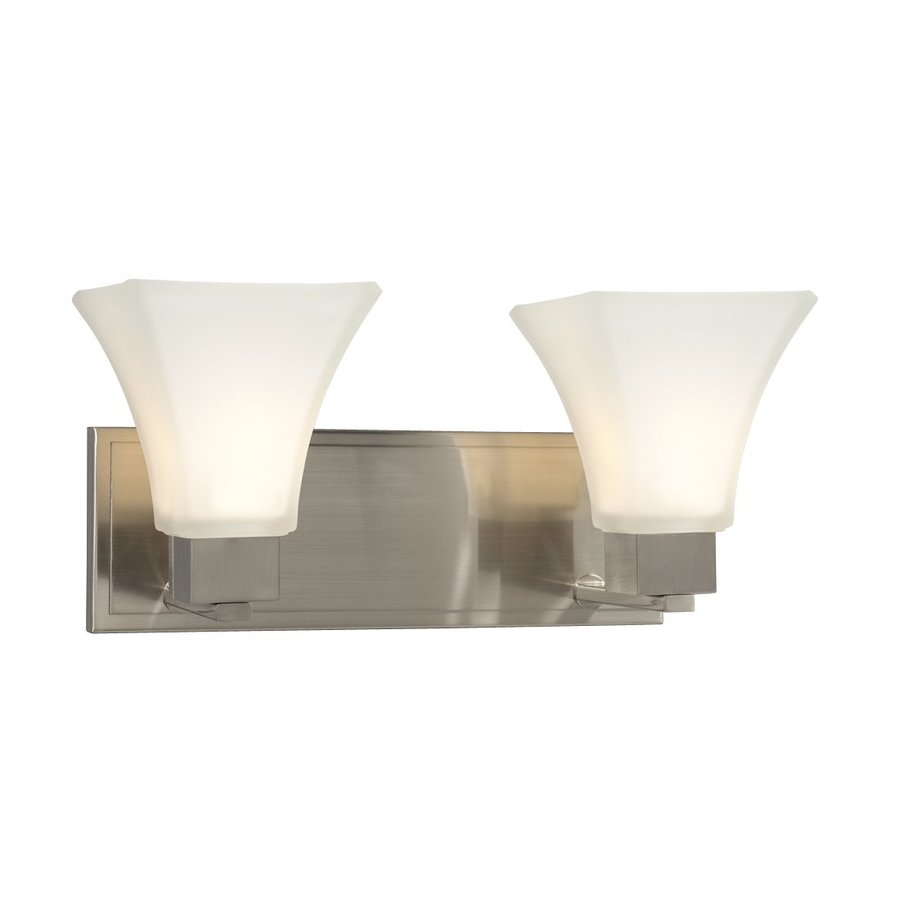 Galaxy Sutton 2-Light 7.75-in Brushed Nickel Bell Vanity Light