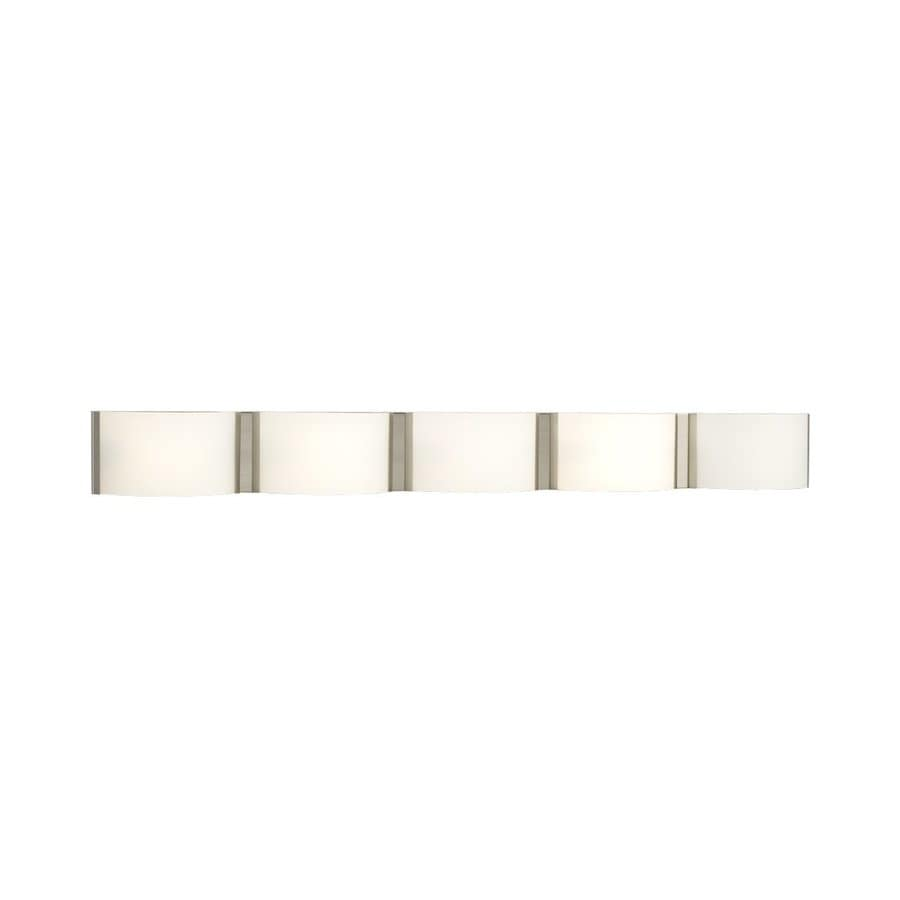 Galaxy Triton 5-Light 5-in Brushed Nickel Rectangle Vanity Light Bar