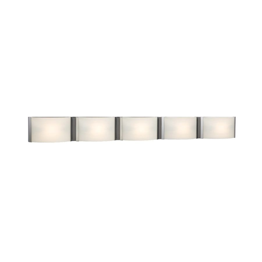 Galaxy Triton 5-Light 5-in Chrome Vanity Light Bar