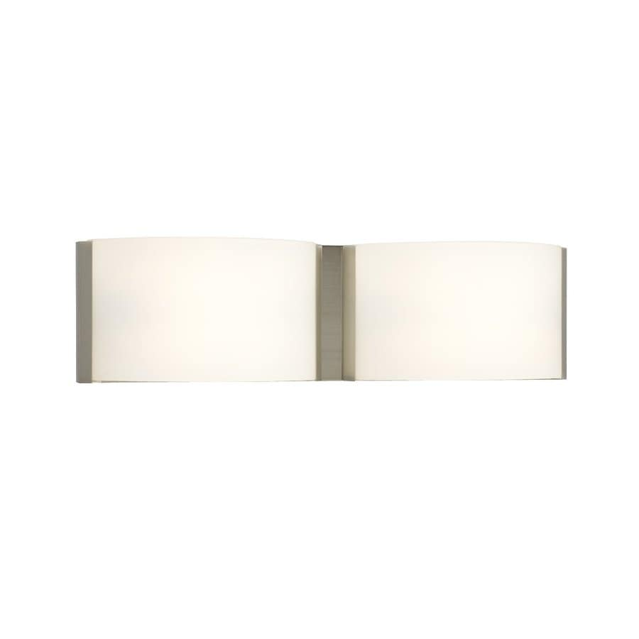 Galaxy Triton 2-Light 5-in Brushed Nickel Rectangle Vanity Light Bar